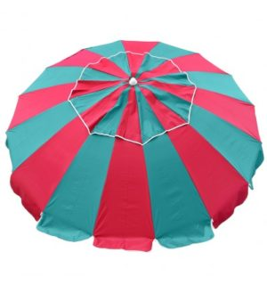 Beach Umbrella carnival red/turquoise