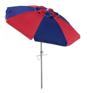 Beach Umbrella fiesta red/navy