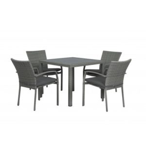 BYRON 5PCE DINING SETTING WITH DINING CHAIRS