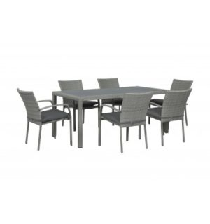 BYRON 7PCE DINING SETTING WITH DINING CHAIRS