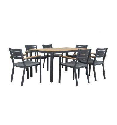 CLAY 7PCE dining SETTING