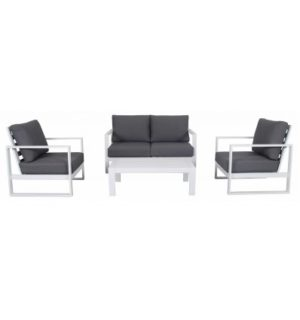 COLADA 4pce DOUBLE LOUNGE SETTING WHITE