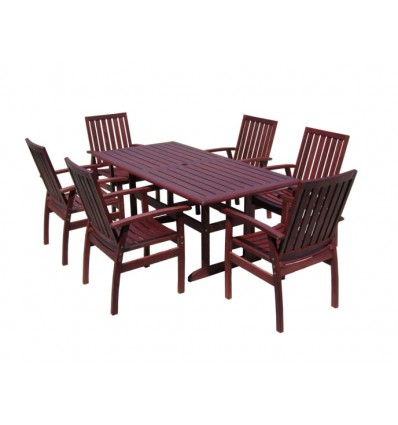 Portland 7pce dining setting with Glendale Midback Chair