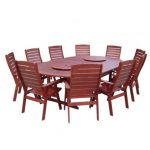 Dallas 11pce oval dining setting with high back chairs
