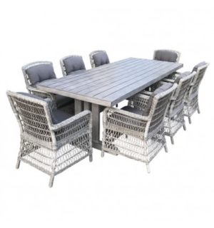 GLADES 9 PIECE DINING SETTING