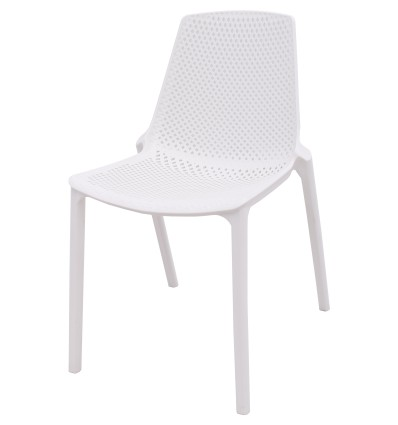 CAFE RESIN DINING CHAIR WHITE