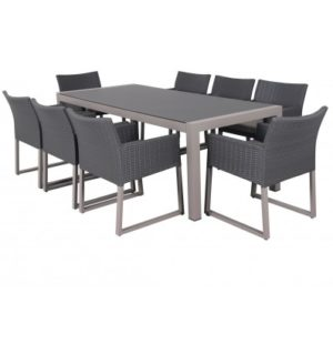 RIDGE 9 PIECE DINING SETTING