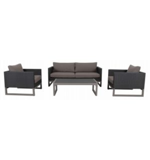 RIDGE TRIPLE LOUNGE WITH SINGLE CHAIRS AND COFFEE TABLE