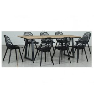 ROSE 9 PIECE DINING SETTING