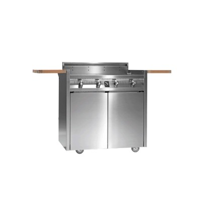 STEEL 4 BURNER TROLLEY BBQ