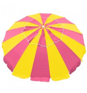 UMBRELLA CARNIVAL 240CM HOT PINK/YELLOW
