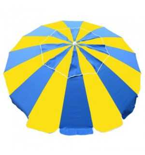 UMBRELLA CARNIVAL 240CM ROYAL/YELLOW